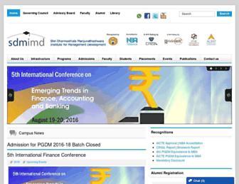 sdmimd.ac.in screenshot