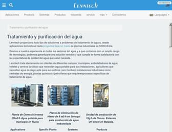 Main page screenshot of lenntech.es