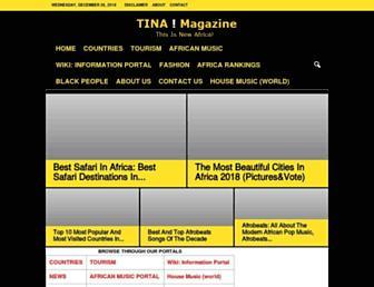 tinamagazine.com screenshot