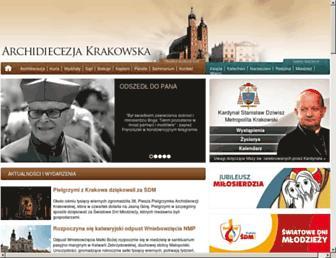 Main page screenshot of diecezja.pl