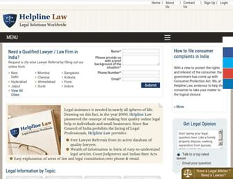 Thumbshot of Helplinelaw.com