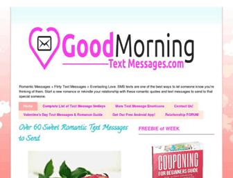goodmorningtextmessages.com screenshot