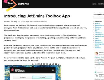 blog.jetbrains.com screenshot