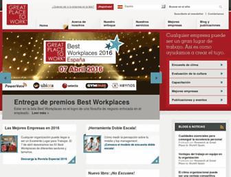 Main page screenshot of greatplacetowork.es