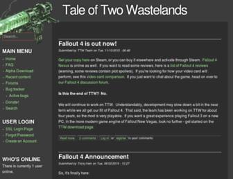 taleoftwowastelands.com screenshot