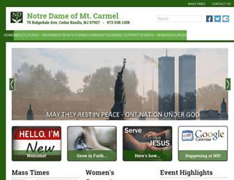 ndcarmel.com screenshot