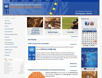 Main page screenshot of undp-pff.org