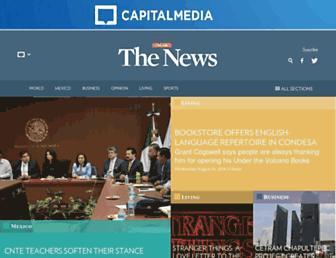 Main page screenshot of thenews.com.mx