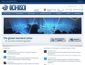 iosco.org screenshot