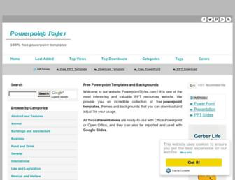 Thumbshot of Powerpointstyles.com