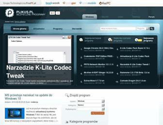 Main page screenshot of plikus.pl