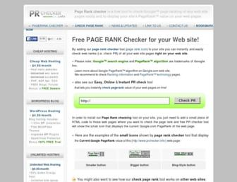 Main page screenshot of prchecker.info
