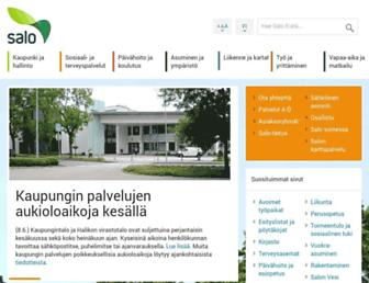 Main page screenshot of salo.fi