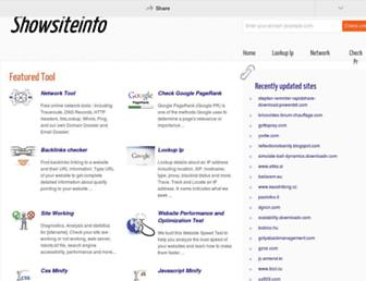 showsiteinf.com screenshot