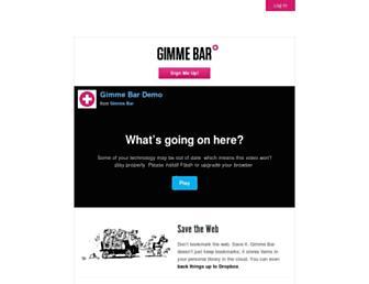 Thumbshot of Gimmebar.com