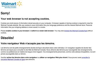 Main page screenshot of walmart.ca