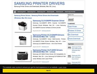 samsung-printerdrivers.com screenshot