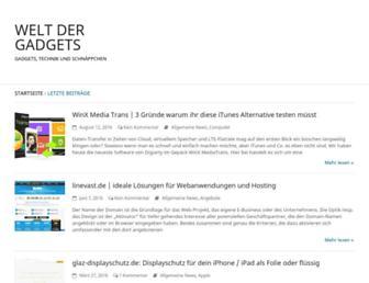 Main page screenshot of weltdergadgets.de