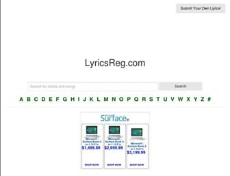 lyricsreg.com screenshot