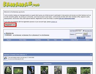 Main page screenshot of bananas.org