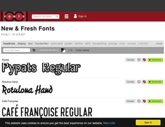 1001fonts.com screenshot