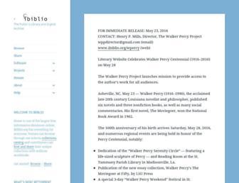 Main page screenshot of ibiblio.org