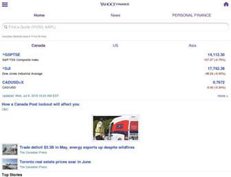 ca.finance.yahoo.com screenshot