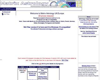 matrixastrology.com screenshot