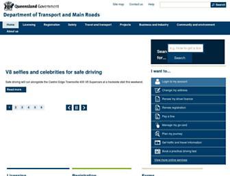 tmr.qld.gov.au screenshot