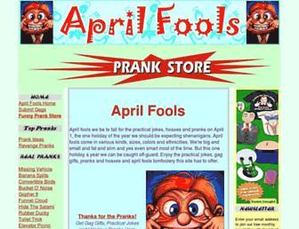 Main page screenshot of april-fools.us