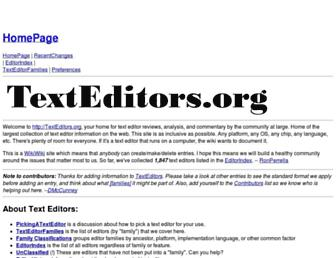 texteditors.org screenshot