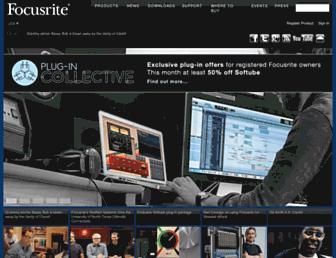 focusrite.com screenshot