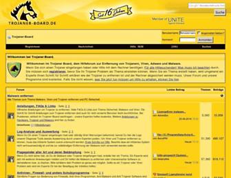 Main page screenshot of trojaner-board.de