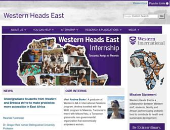 Main page screenshot of westernheadseast.ca