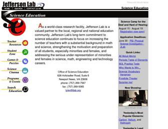 education.jlab.org screenshot