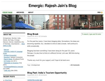 Main page screenshot of emergic.org
