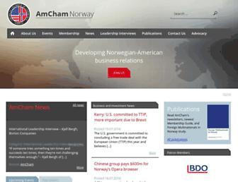 amcham.no screenshot