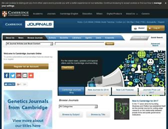 journals.cambridge.org screenshot