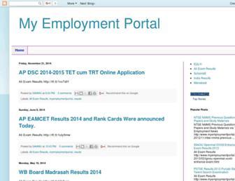 myemploymentportal.blogspot.com screenshot
