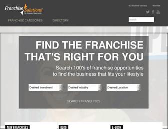 franchisesolutions.com screenshot