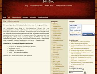 Main page screenshot of 24h-blog.de