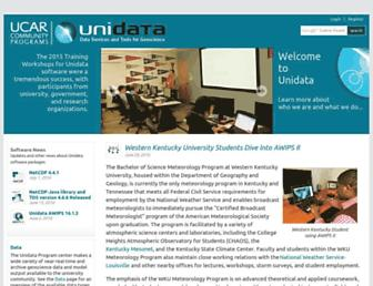 unidata.ucar.edu screenshot