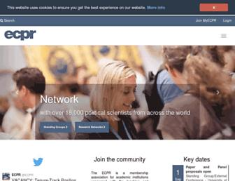 ecpr.eu screenshot