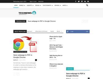 Main page screenshot of techbuzz.in