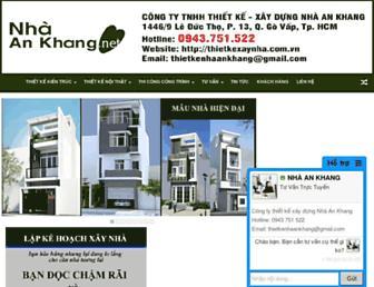 thietkexaynha.com.vn screenshot