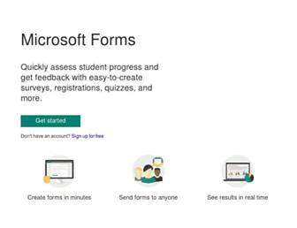 forms.office.com screenshot