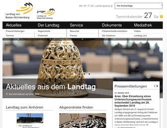 Main page screenshot of landtag-bw.de