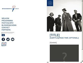 Main page screenshot of bevrijdingsfestivalutrecht.nl