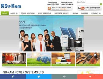Thumbshot of Su-kam.com