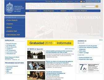 Main page screenshot of puc.cl